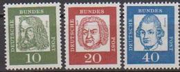 BRD 1961 MiNr.350,352x,355x ** Postfr.Bedeutende Deutsche ( 6843 )günstige Versandkosten - BRD
