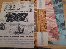 CLI518 : Pour Fans De GASTON LAGAFFE : 4 Pages A4 Spirou Années 60 CALENDRIER 1967 - Gaston