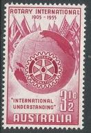 Australia. 1955 50th Anniv Of Rotary International. 3½d MNH. SG 281 - 1952-65 Elizabeth II : Pre-Decimals