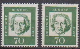 BRD 1961 MiNr.358y A + B ** Postfr.Bedeutende Deutsche ( 6844 )günstige Versandkosten - BRD