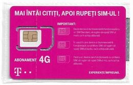 Romania - Telekom - Abonament 4G GSM SIM4 Nano #1, NSB - Romania