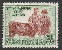Australia. 1953 25th Anniv Of Australian Young Farmers' Clubs. 3½d MNH SG 267 - 1952-65 Elizabeth II : Pre-Decimals
