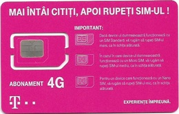 Romania - Telekom - Abonament 4G GSM SIM6 Mini Micro Nano #1, Mint - Romania