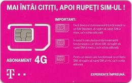 Romania - Telekom - Abonament 4G GSM SIM6 Mini Micro Nano #3, Mint - Romania
