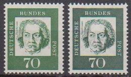 BRD 1961 MiNr.358y A + B ** Postfr.Bedeutende Deutsche ( 6846 )günstige Versandkosten - BRD