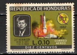 HONDURAS - 1968 - J. F. KENNEDY - GOMMA MACCHIATA - MNH - Honduras