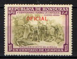 HONDURAS - 1952 - CRISTOFORO COLOMBO - MNH - Honduras