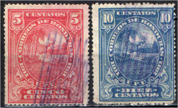 HONDURAS - 1911 - PAESAGGIO DELL'HONDURAS - USATI - Honduras