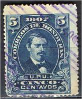 HONDURAS - 1907 - PRESIDENTE JOSE' MEDINA - USATO - Honduras