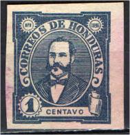 HONDURAS - 1896 - PRESIDENTE CELLO ARIAS - IMPERFORATED - USATO - Honduras