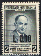 HONDURAS - 1971 - PRESIDENTE JULIO LOZANO DIAZ CON SOVRASTAMPA - OVERPRINTED  - USATO - Honduras
