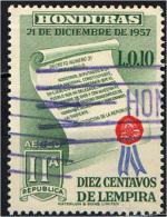 HONDURAS - 1959 - ANNIVERSARIO DELLA 2^ REPUBBLICA DELL'HONDURAS - USATO - Honduras