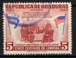 HONDURAS - 1959 - ABRAMO LINCOLN - ABOLIZIONE DELLA SCHIAVITU' - USATO - Honduras