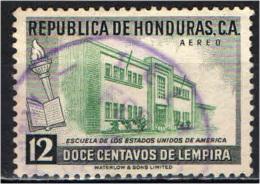 HONDURAS - 1956 - SCUOLA AMERICANA IN HONDURAS - USATO - Honduras