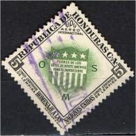 HONDURAS - 1953 - SCUDO  DELL'HONDURAS - USATO - Honduras