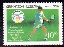 885 490 - UZBEKISTAN 1993 ,  Unificato N. 67  Nuovo ***  TENNIS - Uzbekistan