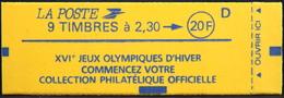 FR - CARNET 2614-C8 - J.O. D'Hiver Lettre D - 9 Timbres NEUFS** - Carnets