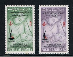 AFGHANISTAN:  1964  CROCE  ROSSA  -  2  VAL. N. -  YV/TELL. 749 + 750 - Afghanistan