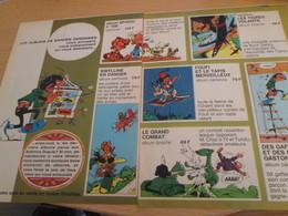 CLI518 : Pour Fans De GASTON LAGAFFE : Double Page PUB ALBUMS Avec Dessins Non Repris Dans Des Albums - Gaston