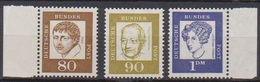 BRD 1961 MiNr.359y,360y,361y  ** Postfr.Bedeutende Deutsche ( 6847 )günstige Versandkosten - BRD