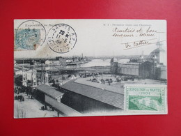 CPA 44 EXPOSITION DE NANTES 1904 PREMIERE VISITE AUX CHANTIERS TIMBRE - Nantes