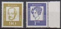 BRD 1961 MiNr.360y,361y  ** Postfr.Bedeutende Deutsche ( 6848 )günstige Versandkosten - BRD