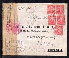 Brasil (Para) To France (Paris), 1915, Cover WWI, France Censor Tape - Brazil