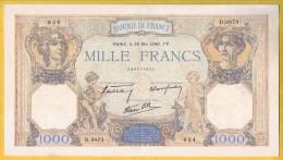 BILLET FRANCAIS - 1000 Francs Cérès Et Mercure 30.5.1940 SUP+ - 1871-1952 Circulated During XXth