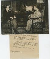 PHOTOS ORIGINALES -1938- Conversations ITALO-POLONAISES -M. BOCK Et Le COMTE CIANO Au Palais CHIGLI -Cliché FRANCE PRESS - Guerre, Militaire