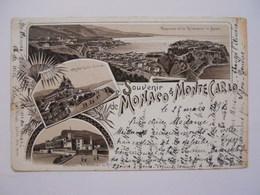 Souvenir De Monaco Et Monte-Carlo,mars 1896 - Monaco