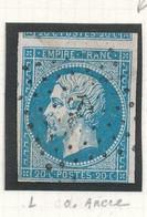 N°14 AVEC VOISIN OBLITERATION ANCRE - 1853-1860 Napoleon III