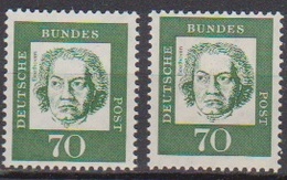 BRD 1961 MiNr.358y A+b  ** Postfr.Bedeutende Deutsche ( 6851 )günstige Versandkosten - BRD