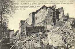 """CHINON  Ruines Du Fort Saint Georges (coté Sud Est ) Mort De Mmm Bodic Lors De L""""ecroulement 30 Dec 1906 RV - Chinon"""