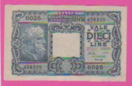 Billet - ITALIE 10 Lires Du 23 11 1944 - Pick 32a - Bleu - [ 1] …-1946 : Kingdom
