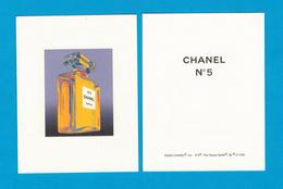 Cartes Parfumées Carte CHANEL N°5 ANDY WARHOL   De CHANEL RECTO VERSO - Modern (from 1961)