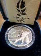 379 - COFFRET 100 Francs Albertville 1992 : Patineurs De Vitesse - Argent 900‰ - Commémoratives