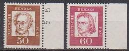 BRD 1961 MiNr.356y - 357y  ** Postfr.Bedeutende Deutsche ( 6856 )günstige Versandkosten - BRD