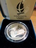 380 - COFFRET 100 Francs Albertville 1992 : Conducteur Bobsleigh - Argent 900‰ - Commémoratives