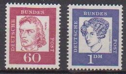 BRD 1961 MiNr.357y + 361y  ** Postfr.Bedeutende Deutsche ( 6857 )günstige Versandkosten - BRD