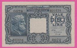 Billet - ITALIE 10 Lires Du 23 11 1944 - Pick 32a - Bleu - [ 1] …-1946 : Royaume