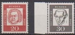 BRD 1961 MiNr.352y,354y + 355y  ** Postfr.Bedeutende Deutsche ( 6858 )günstige Versandkosten - BRD
