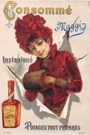 CARTE CONSOMME INSTANTNE MAGGI- POTAGE TOUT PREPARES - PUB - Publicités
