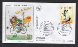 DF / FDC DU TP 3370 FÊTE DU TIMBRE BANDE DESSINÉE GASTON LAGAFFE DE FRANQUIN - France