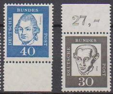 BRD 1961 MiNr.354y + 355y  ** Postfr.Bedeutende Deutsche ( 6859 )günstige Versandkosten - BRD