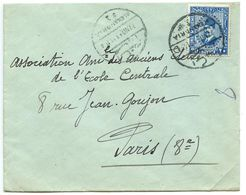 Egypt 1933 Cover Alexandria To Paris France W/ Scott 142 King Fuad - Egypt