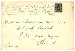 Egypt 1933 Cover Cairo To Paris France W/ Scott 129 - Egypt