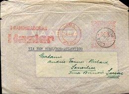 35137 Perù  Red Meter/freistempel/ema/ 1946 Lima,  Franqueadoras  Hasler, Circuled Cover To Switzerland - Peru