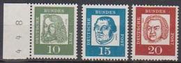 BRD 1961 MiNr.350y,351y + 352y  ** Postfr.Bedeutende Deutsche ( 6860 )günstige Versandkosten - BRD