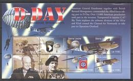 F711 SIERRA LEONE WAR MILITARY D-DAY GREATEST INVASION 1KB MNH - 2. Weltkrieg