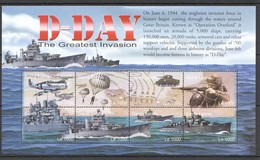 F712 SIERRA LEONE WAR MILITARY D-DAY GREATEST INVASION 1KB MNH - 2. Weltkrieg
